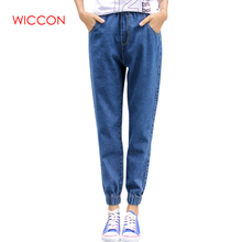 New Ladies High Waist Mom Female Boyfriend Jeans For Women Denim Trousers Pencil Pants Denim Black Jeans Woman Plus Size S-5XL AQ01