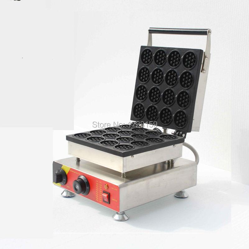 Hot sale 16pcs  commerical electric waffle maker,stroopwafel maker, round waffle maker machine hot sale 32pcs gas bean waffle maker