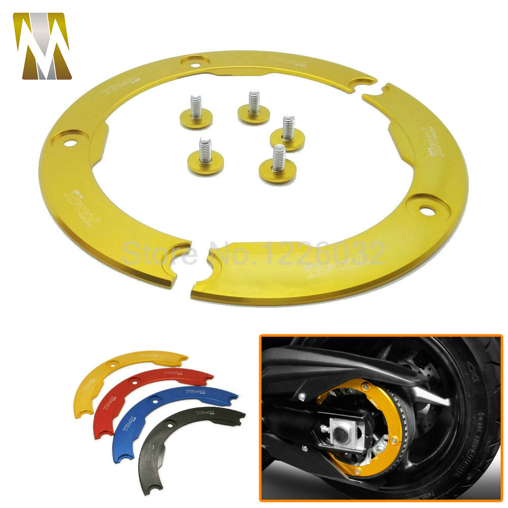 High Quality Motorcycle Part Aluminum Transmission Belt Pulley Protective Cover For Yamaha TMAX 530 Multi-colors high quality professional rock climbing belt high altitude full body safety belt harnesses anti fall protective gear