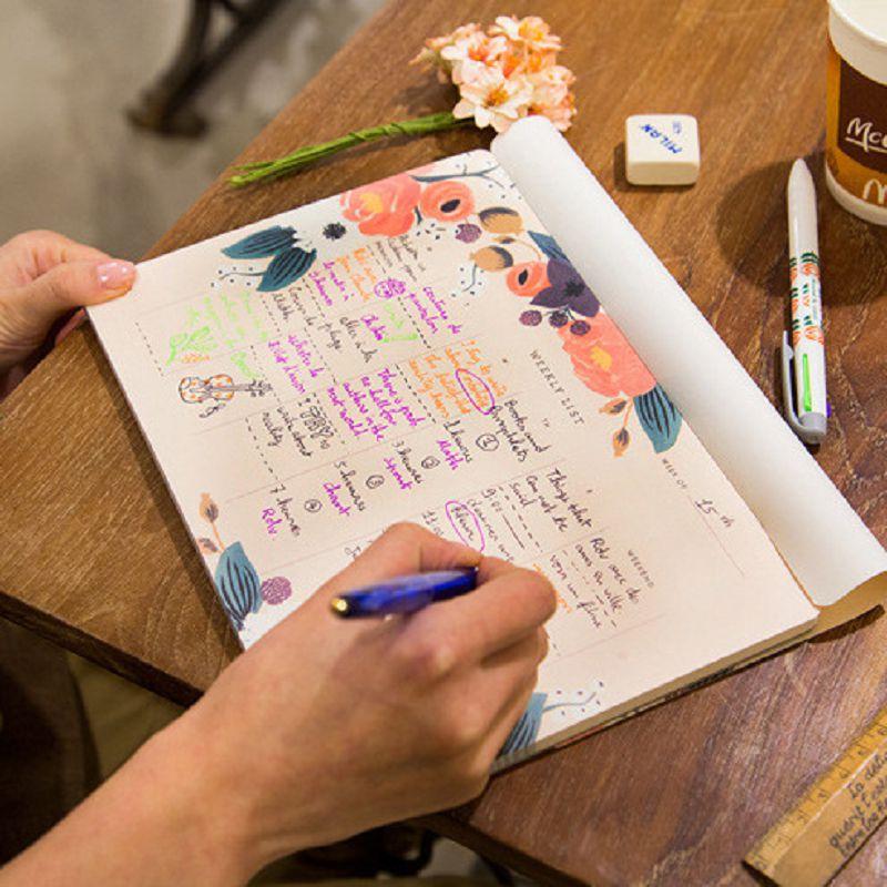 weekly planner notebook sketchbook caderno agenda material escolar cadernos kawaii libretas y cuadernos nootbook not defteri цены
