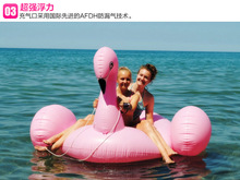 2016 new inflatable Swan swim mount floating row waterbed PVC inflatable water toy horse Flamingo CQC005