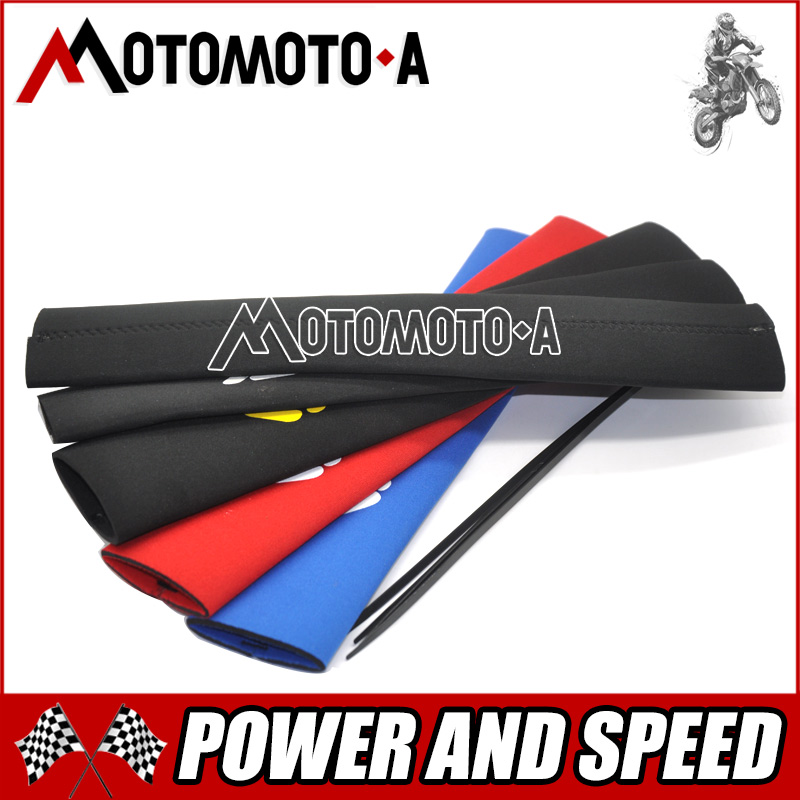 New Front Fork Protector Shock Absorber Guard Wrap Cover Skin For Motorcycle Motocross Pit Dirt Bike KTM YZF250 CRF250 CRF450 new crf250 crf450 after motocross fender masonry for honda
