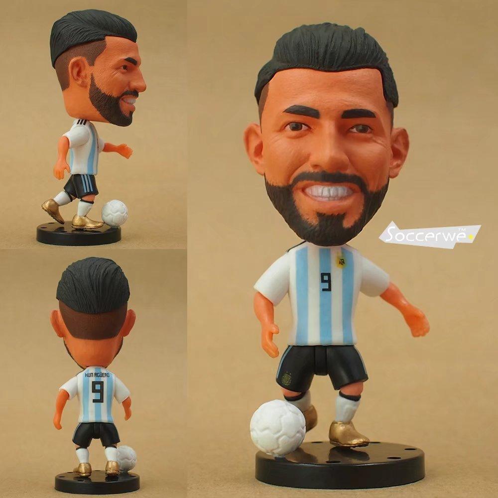 Soccer Player Star 9# AGUERO (ARG-2018) 2.5 Toy Doll Figure