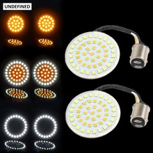 UNDEFINED Motorcycle 2 Bullet Style 1157 LED Inserts Turn Signal Light Panel For Harley Sportster Softail Touring Dyna DDD116