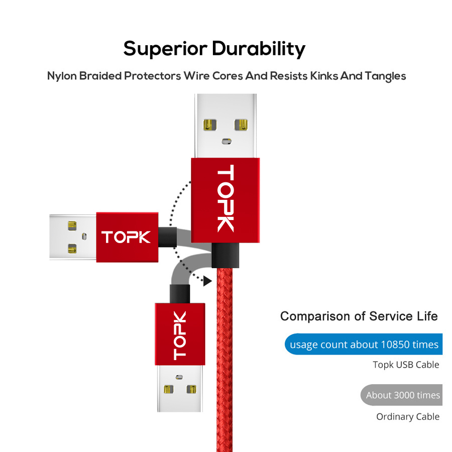 Image 5 - TOPK AM21 Magnetic Cable Nylon Braided Micro USB Cable Data Sync Magnet Charger Cable For Xiaomi Redmi 4X Samsung S7 Microusb-in Mobile Phone Cables from Cellphones & Telecommunications