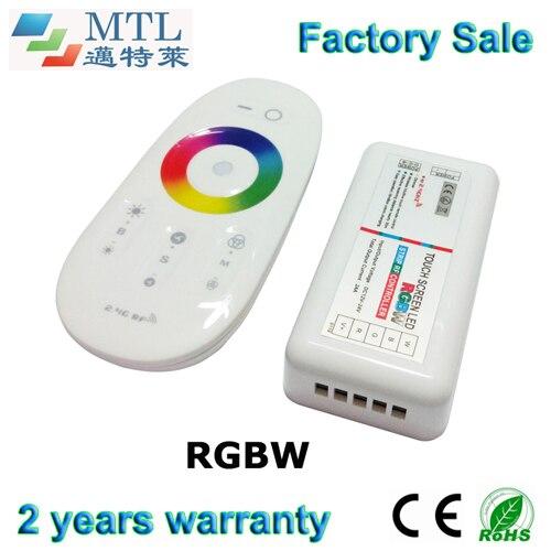 2.4G RF RGBW LED řadič programovatelný s dotykovým panelem pro LED pásové světlo, 10 ks / lot, bezdrátové dálkové ovládání, velkoobchod