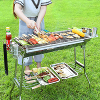 Portable collapsible grill outdoor charcoal grill stainless steel bbq carbon oven LM01111847