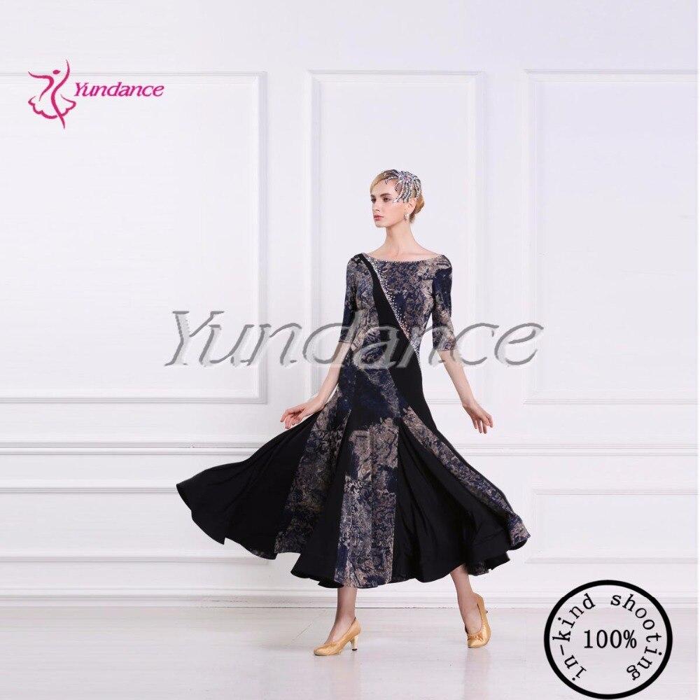 2017 Newest High-end Womans Standard Ballroom Waltz Dresses Tango Dress Foxtrot Dancing Dresses M-1652
