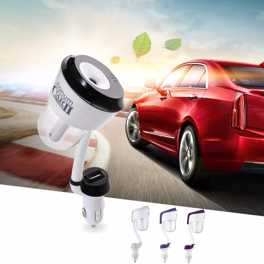 Useful Car Air Humidifier Diffuser Essential Oil Ultrasonic Aroma Mist Purifier