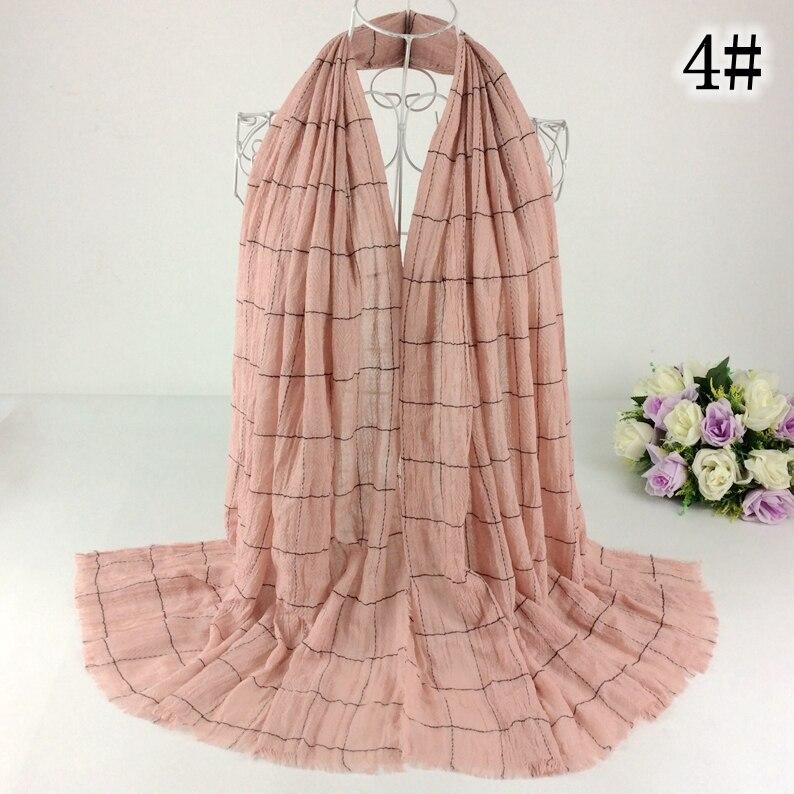 British Style Plaid Print Scarf Cotton Women Scarves And Shawls Muslim Hijab Muslim Muffler Ponchos And Capes