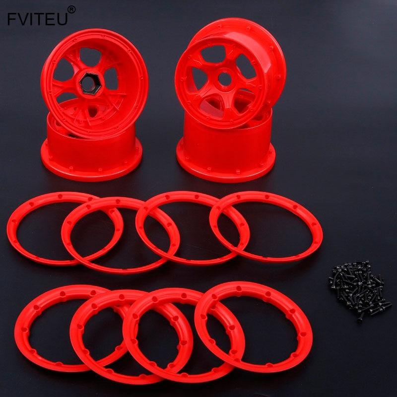 FVITEU Nylon Five spoke Front Rear wheel hub and rim set for 1 5 HPI baja