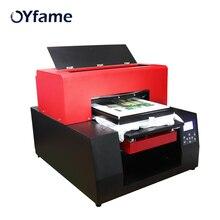 OYfame многоцветный принтер для печати на футболках автоматический A3 аппарат плоскостной печати печать на футболке ПВХ Карта DTG планшетный Pinter для одежды