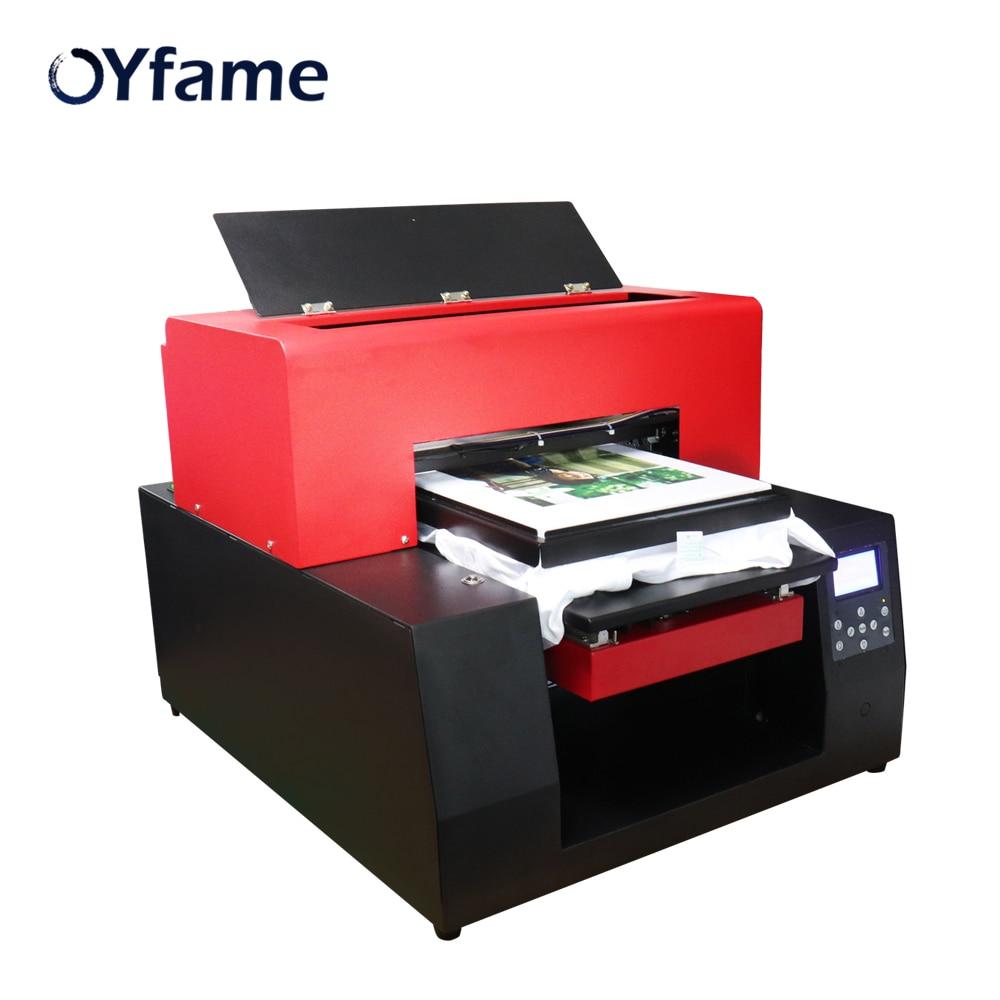 OYfame Multicolor DTG impresora automática A3 máquina de impresión plana en la camiseta tarjeta de PVC DTG Pinter plano para la ropa