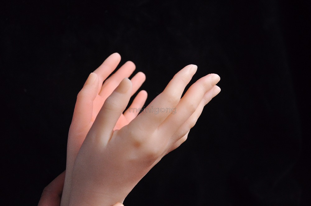 Solid Silicone Female Hands,Sex Doll Real Skin,realistic mannequin hands ring display Sexy Woman Hands,female hand model new 2pcs female right left vivid foot mannequin jewerly display model art sketch