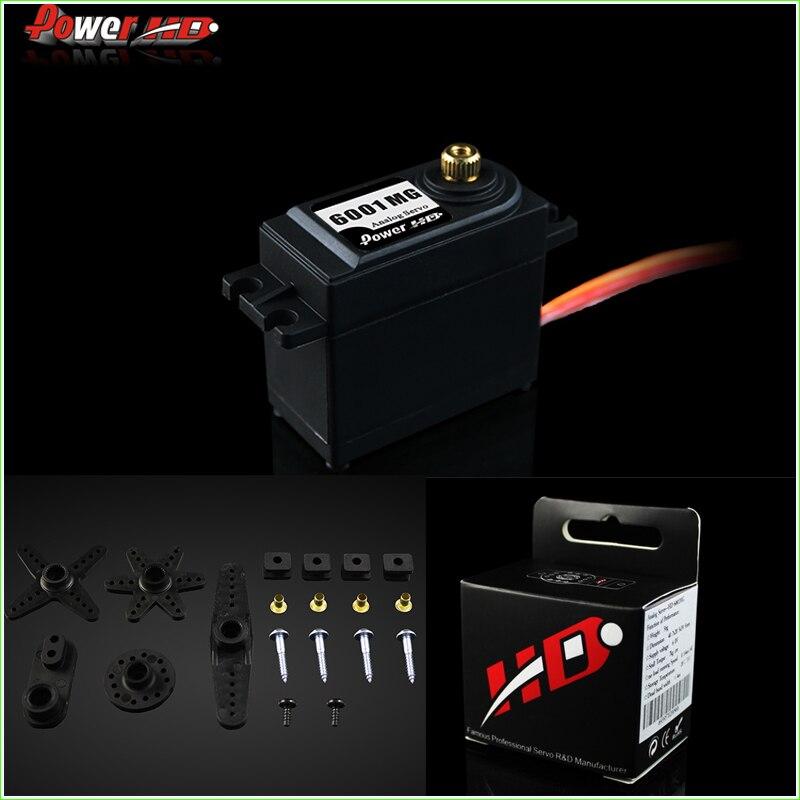 1 Stücke 100% orginal Power HD-6001MG Standardgröße Analog Metal Gear Servo