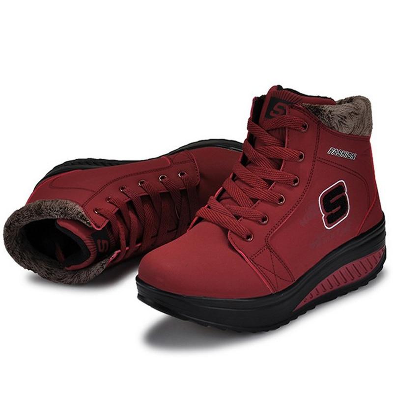 Winter font b Women b font Swing Shoes New Warm Plus Thick Velvet Fashion Snow Boots