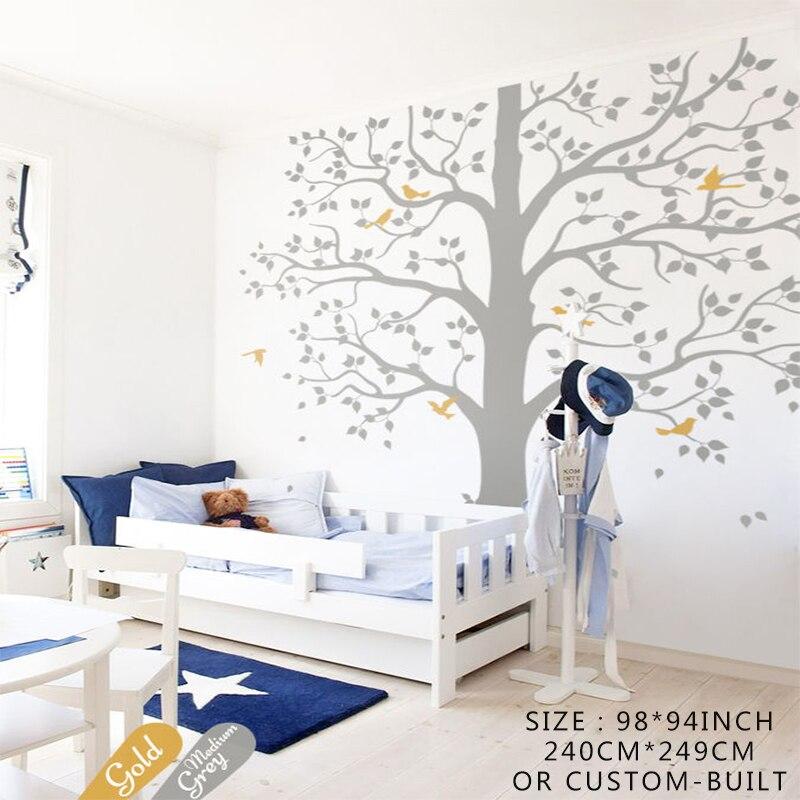 Unisex Bedroom Wallpaper Graffiti Bedroom Design Ideas Bedroom Bed Curtains Bedroom Athletics Beatrice Harris Tweed Moccasin Slipper: Kids Room Tree Wall Decal Set, Unisex Bedroom Wall Vinyl