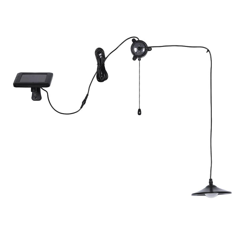 Stainless Steel Shade Solar Power LED Light Pendant Light Hanging Lamp Reading Bar Counter Light with Remote Contro Lamp