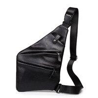 Moda saco Peito bolsa de ombro dos homens saco Do Mensageiro de Couro Pu multi-funcional Crossbody sacos de viagem Designer Casual sacos de Arma NOVA
