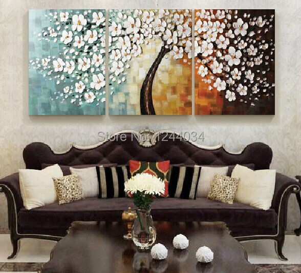 modern abstract oil painting rectangle combination wall art canvas
