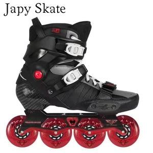 Image 2 - Japy Skate 2017 Powerslide EVO Professional Slalom Inline Skates Adult Roller Skating Shoes Sliding Free Skating Patins Patines