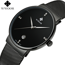 Brand Luxury Date Waterproof Quartz Watch Men Casual Sport Watches Male Black Stainless Steel Watch Slim Clock relogio masculino