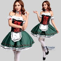 German Festival Girl Oktoberfest Costumes Beer Party Dress Women Lolita Maid Costumes for Halloween