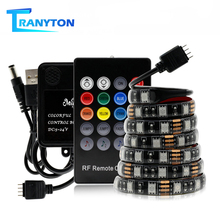 USB LED Strip SMD 5050 RGB Flexible LED Light Tape With RF Remote Music Controller For PC Screen TV Background Lighting 5V 1M 2M 1m 2m 3m rgb led strip for computer case sata interface 17 key rf remote controller smd 3535 2835 5050 led diode tape 60 leds m