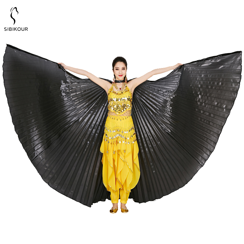 HTB1nz5xbSSD3KVjSZFKq6z10VXaS - Belly Dance Isis Wings Belly Dance Accessory Bollywood Oriental Egypt Egyptian Wings Costume With Sticks Adult Women Gold
