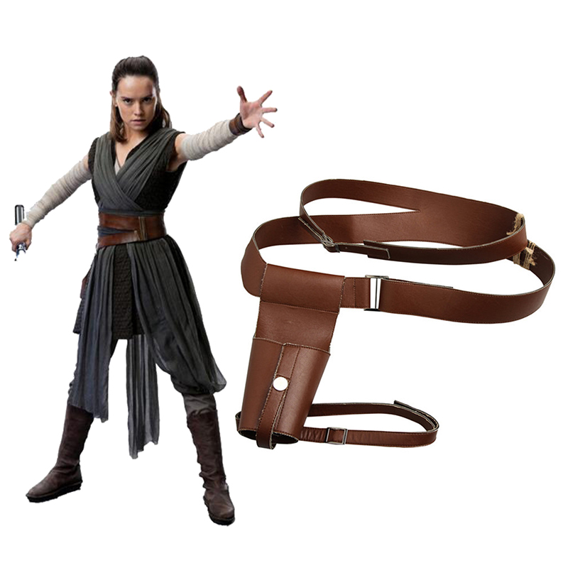 The Last Jedi Rey STAR WARS Cosplay Accessories Rey Cosplay Belt Strap Movie Superhero Props Halloween Leather Belt Adult Women