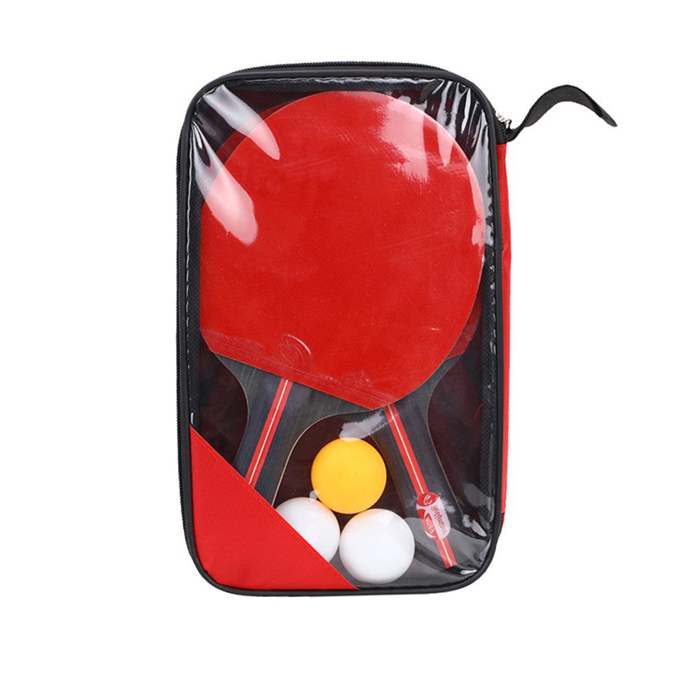 New Table Tennis Bat Hand Shake Racket Beginner's Training Ping Pong Bat Table Tennis Racket Set 2 Rackets And 3 Balls Unisex