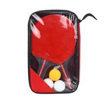 лучшая цена New Table Tennis Bat Hand-shake Racket Beginner's Training Ping-Pong Bat Table Tennis Racket Set 2 Rackets And 3 Balls Unisex