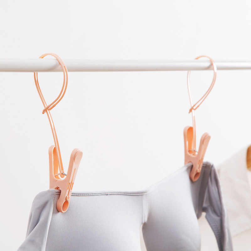 12 pz/set Antivento PP Vestiti Clip Pioli Calze Asciugamano Rack Gancio Appendiabiti Organizzatore Indoor Outdoor Lavanderia Dryer