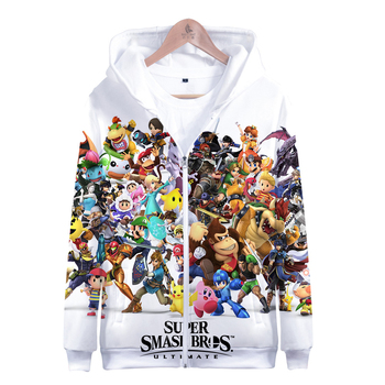 Abrigo Super Smash Bros para hombre y mujer Sudadera con capucha con estampado 3D para niños, chaqueta de deportes salvajes cálida, abrigo de ocio