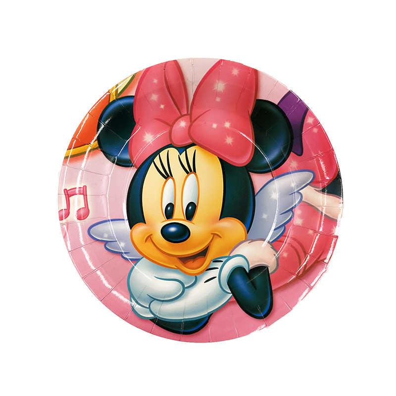 Minnie Mouse Kids Theme Dekorasi Pesta Ulang Tahun Kartun Mickey Perlengkapan Pesta Acara Pesta Ulang Tahun Baby Shower Paket Hadiah