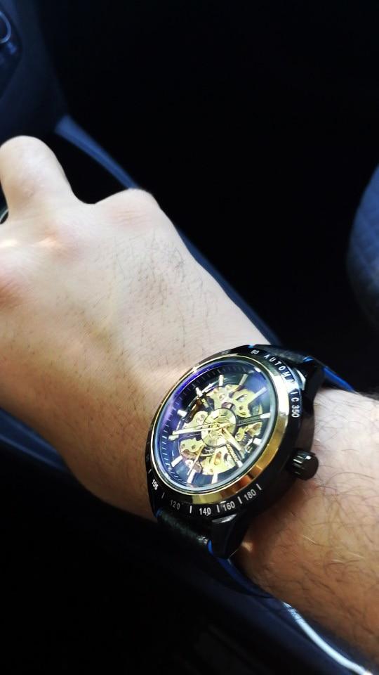HTB1nz6aATJYBeNjy1zeq6yhzVXaF Forsining Motorcycle Design Genuine Black Belt Waterproof Skeleton Men Automatic Watches Top Brand Luxury Mechanical Male Clock