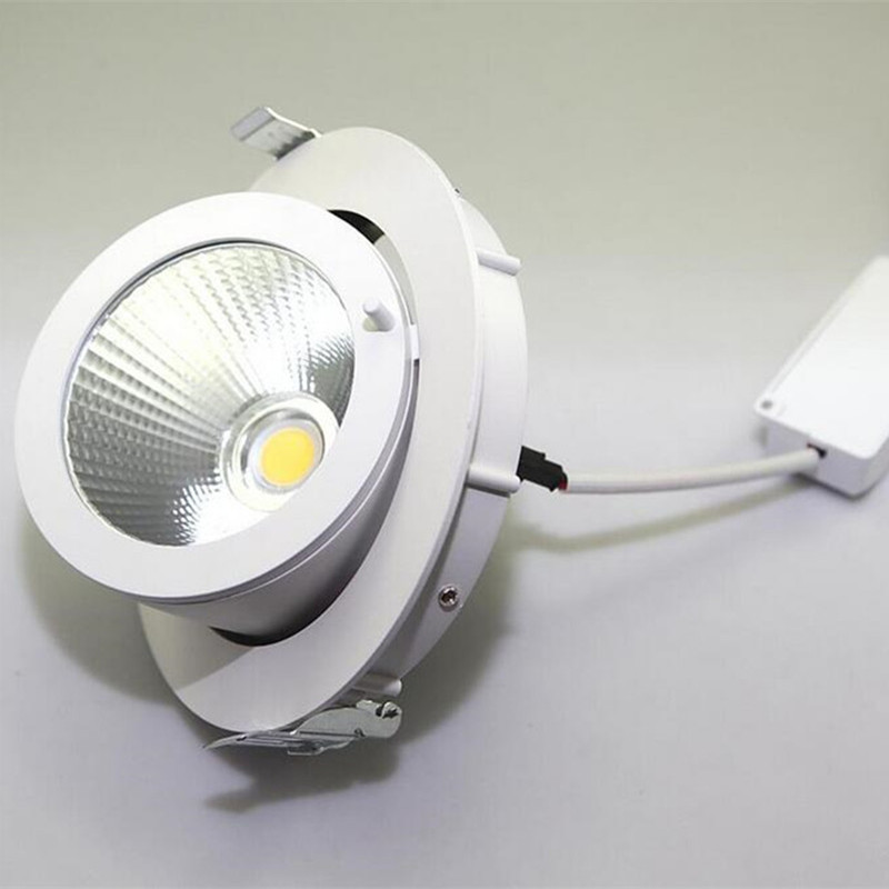 12x Dimmable LED Gimable Rotation Downlight Spot Light 25W 40W COB Recessed Ceiling Lamps Adjustable Commerical