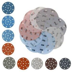 Image 2 - 45PCS 6 Inch 150mm 17 Holes Soft Film Sanding Disc Sandpaper 600 to 5000 Grits for Wet/Dry Automotive Paint Sanding