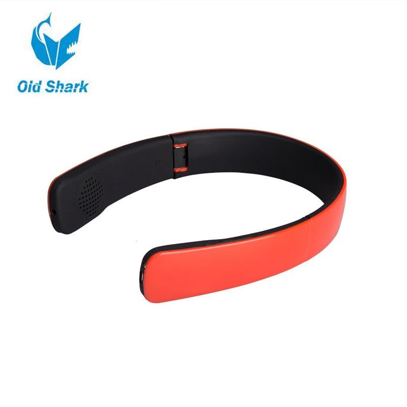 цена на Old Shark Foldable Wireless Bluetooth Headphone Stereo Earphone for iPhone 6 5S iPad For Samsung Galaxy S5 For HTC or Blackberry