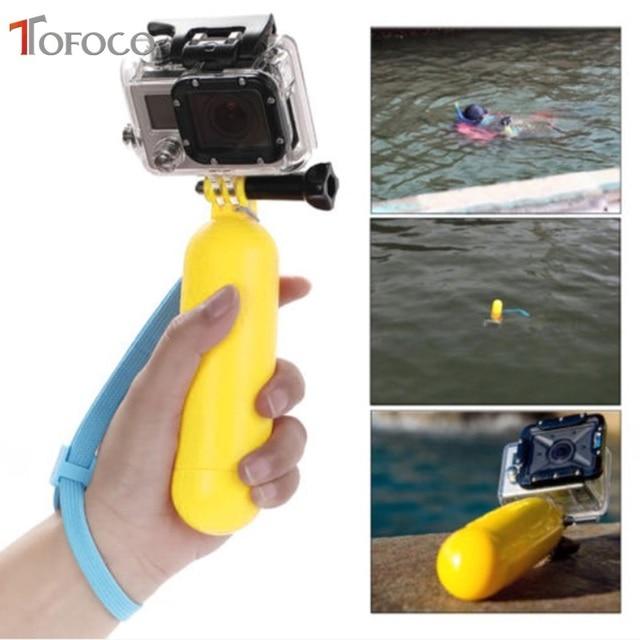 Empuñadura flotante de agua amarilla, accesorio de flotación para Gopro Hero 4/3 +/3/2/1 para Gopro Sj4000 Sj5000 Sj6000 Sj7000