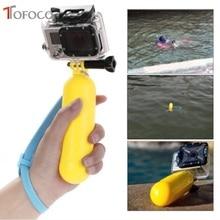 黄色の水浮動ハンドグリップは、フロート gopro ヒーロー 4/3 +/3/2/1 移動プロ sj4000 Sj5000 Sj6000 Sj7000 新