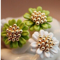 e0119  Free Shipping Fashion New Hot Exquisite Small Daisy Flower Earrings Jewelry Accessories