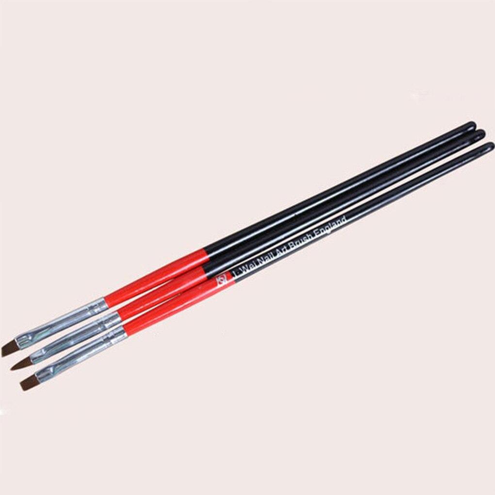 New 3pcs /Set Professional UV Gel Nails Colorful Nail Art Pen Manicure Nails Drawing Tools Fast Shippping