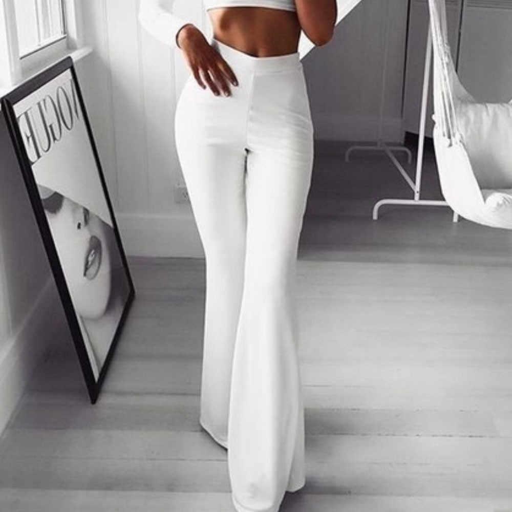Kadın Moda Katı Esneklik Tayt Çan dipleri Pantolon spodnie damskie kadın pantolon pantalon femme ete bayan pontalon femme