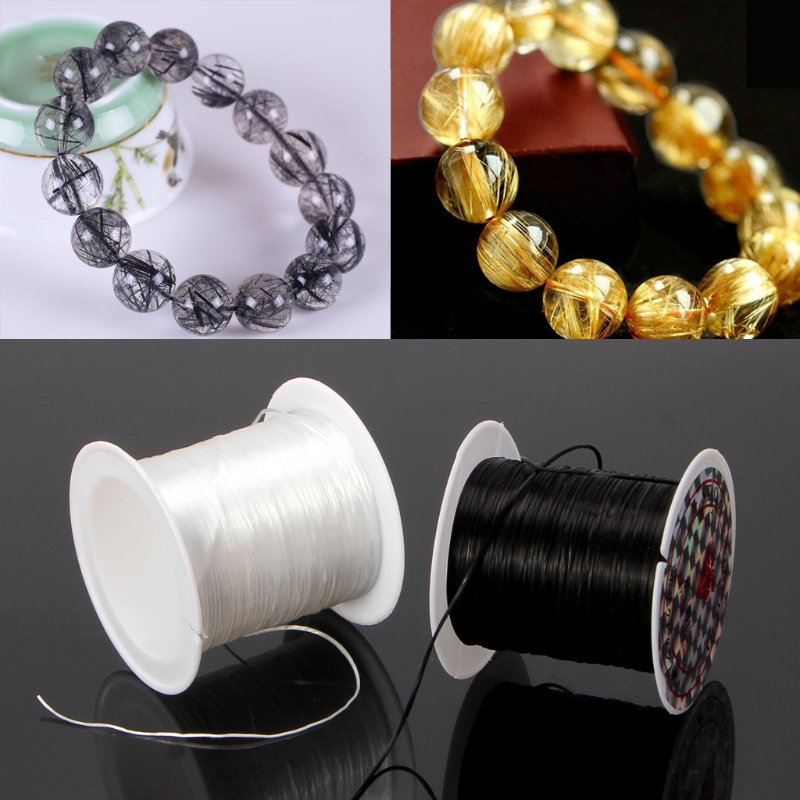 Elastic Clear Beading Thread Stretch Polyester String Cord for Jewelry Making AccessoryElastic Clear Beading Thread Stretch Polyester String Cord for Jewelry Making Accessory