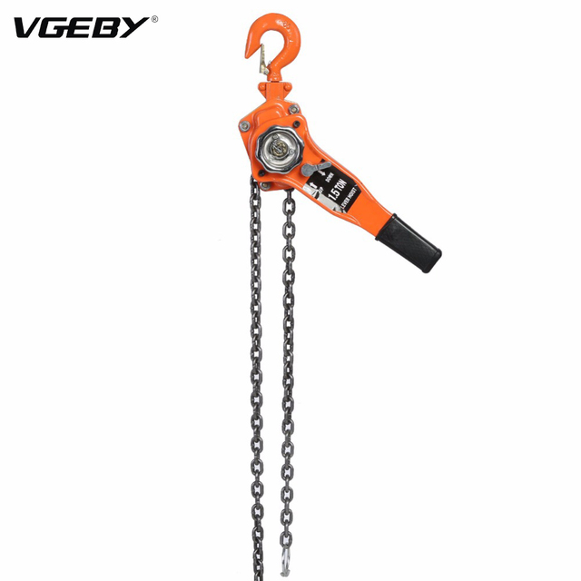 VGEBY 1 Set Alloy Steel 1.5Ton 10ft Lifting Equipment Ratchet Pulley Hoist Lever