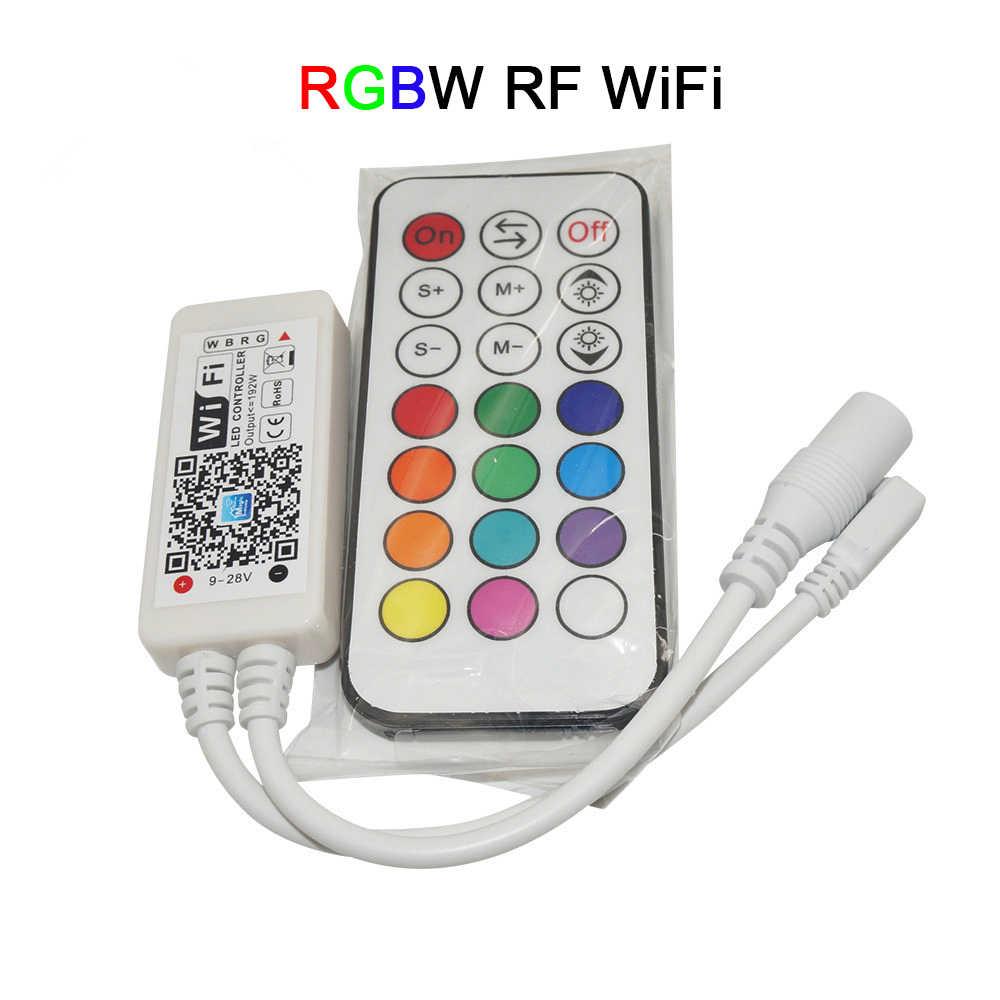 DC12-24V Mini wifi LED rvb/RGBW contrôleur sans fil RF télécommande IOS/Android téléphone intelligent pour RGBCW/RGBWW RGB bande de LED