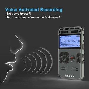 Image 3 - Vandlion profesjonalnego aktywowana głosem cyfrowy audio dyktafon 16GB PCM nagrywanie długi na baterie życie MP3 odtwarzacz muzyczny V35