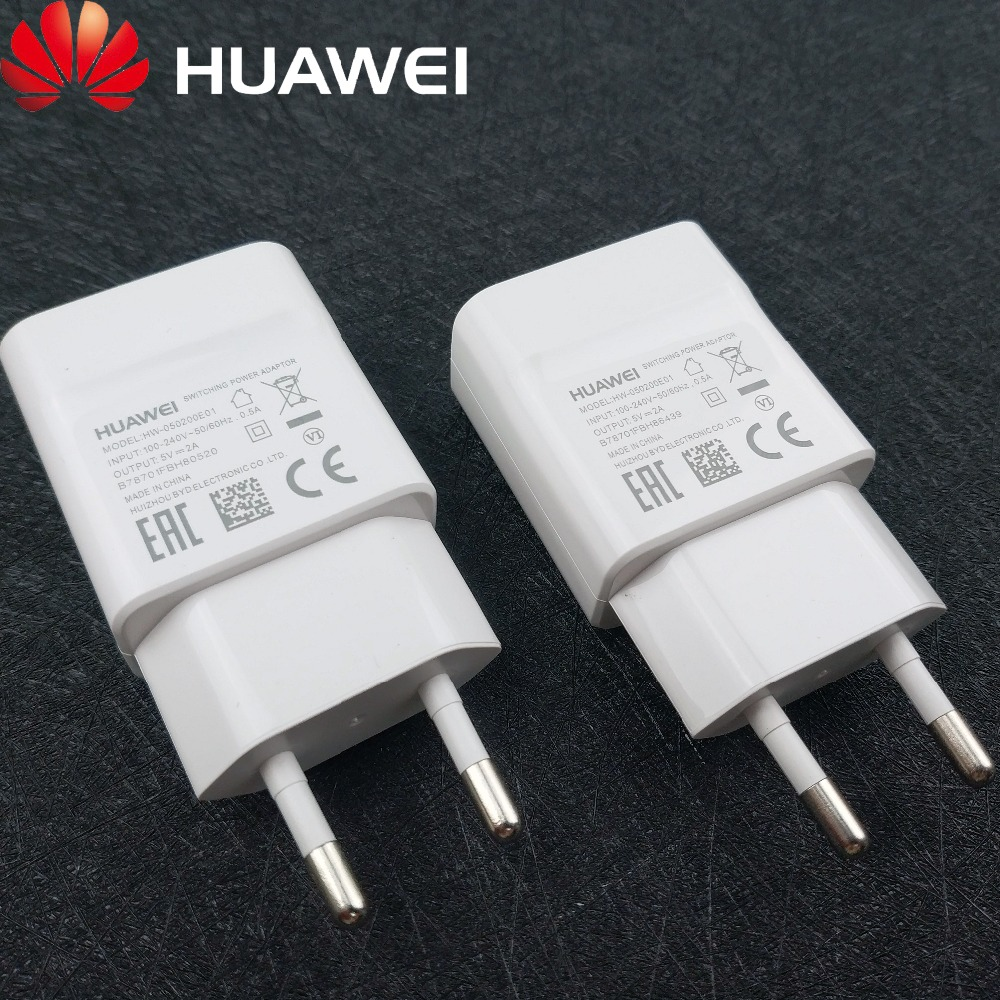 Huawei P9 lite Original Charger EU 5V 2A Mciro usb cable Wall Charge power Adapter For Huwaei p8 lite P8 Honor 8x 7 5 y5 ii y3