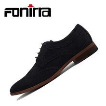 FONIRRA Fashion Suede Men Flat Casual Shoes Men Leather Flock Dress Shoes Luxury Lace Up Oxford Loafers Moccasins For Men 403